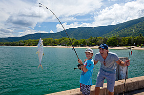 Fishing off the Jetty at Palm Cove